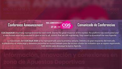 Photo of Comunicado de  #CGSCLOUD2020 a la industria internacional