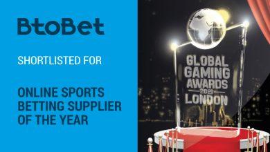 Photo of Btobet  finalista para el premio a «Mejor proveedor de Apuestas Deportivas Online»
