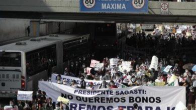 Photo of Trabajadores de casinos y tragamonedas bloquean carril del Metropolitano para exigir reapertura
